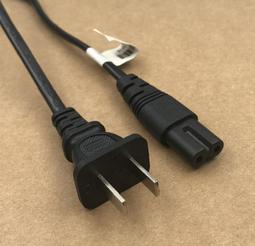 三星 Samsung 原裝 AC電源 兩孔8字電源線 液晶電視 電源線 雙彎頭 純銅0.75芯 適用液晶電視等 1米