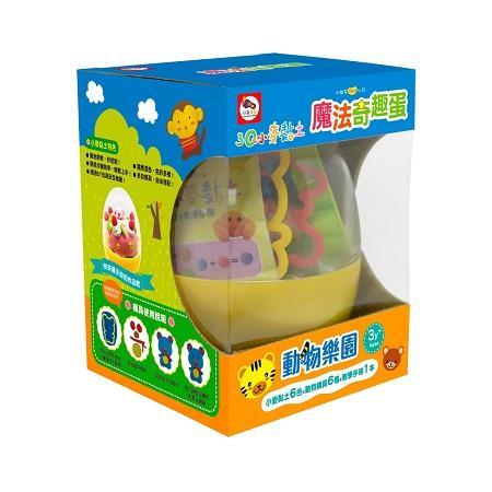 3Q小麥黏土:魔法奇趣蛋:動物樂園(內附6色小麥黏土(共180g)+DIY教學手冊+空心動物模具6個)