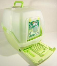 現貨【促銷】日本IRIS雙層貓砂屋TIO-530FT(綠色)新款顏色貓便盆(可另購TIO-4L球砂)