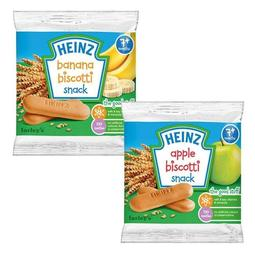 【美國媽咪】HEINZ 美國亨氏 蘋果 / 香蕉手指餅 60g (12入) 7M+ 義大利原裝進口 臺中可面交