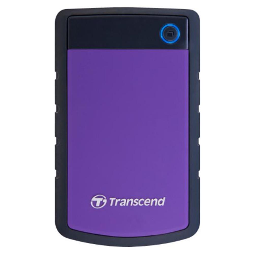 【首下載APP送$100】Transcend 創見 StoreJet 25H3P 3TB USB3.0 2.5吋 高速軍規防震防摔外接行動硬碟 紫色