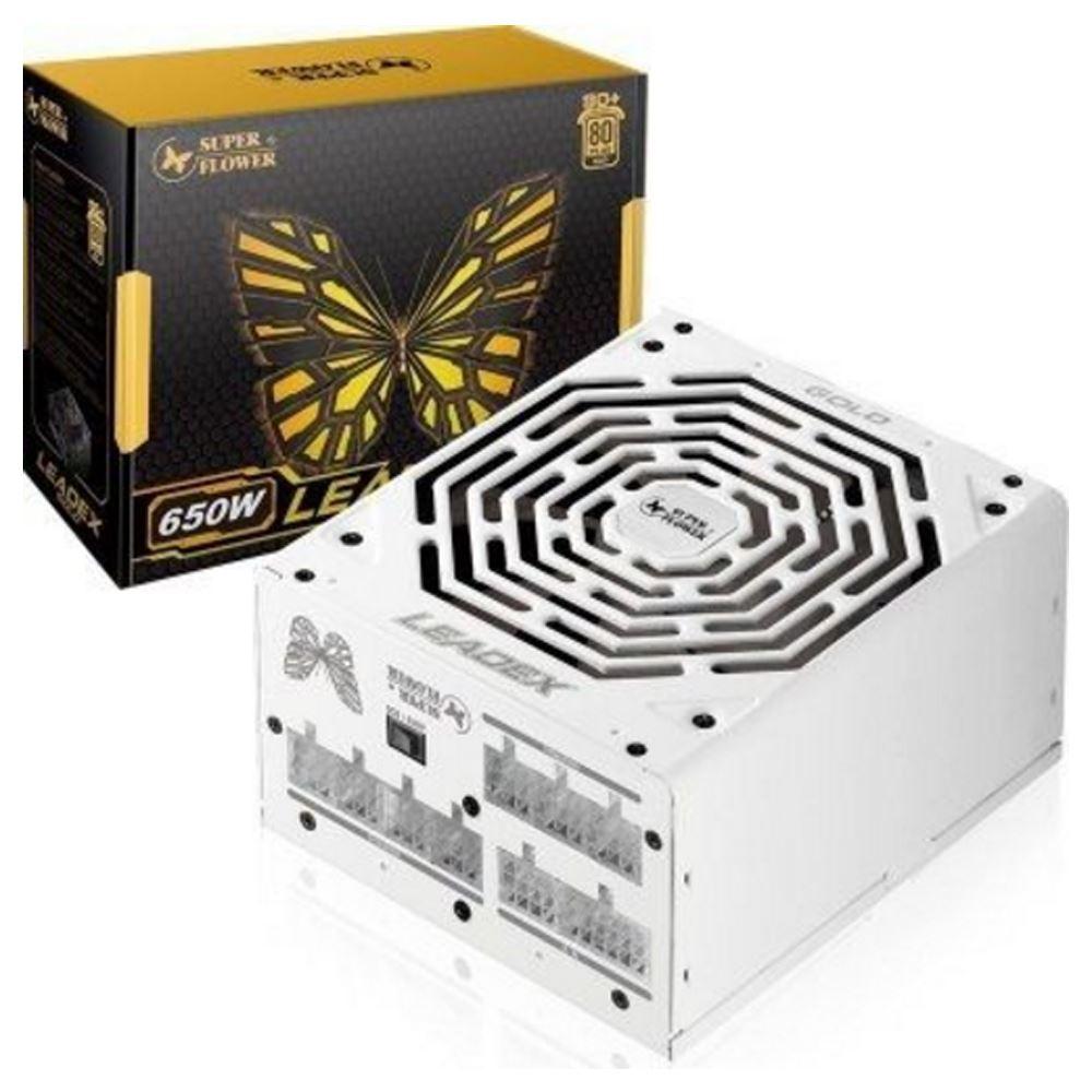 【首下載APP送$100】Super Flower 振華 LEADEX SF-650F14MG 650W 金牌 80+ 水晶全模組全日系 電源供應器