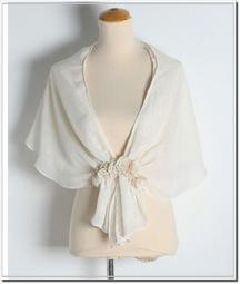 【WildLady】 日本立體花朵蕾絲小罩衫 外套禮服披肩