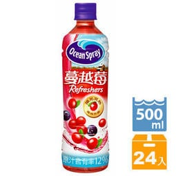 《優鮮沛》蔓越莓綜合果汁500ml(24瓶/箱)
