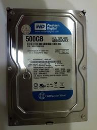WD 500GB Sata硬碟 型號WD5000AAKX