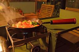 【野外營】OHO 森木碳鋼鍋 8吋 露營 炒鍋 手柄可拆設計 SW08