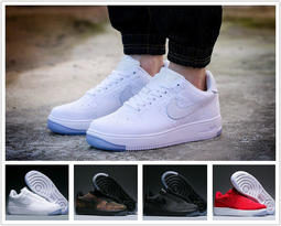 免運!新款 正版特賣 Nike Air Force 1 Flyknit 耐吉空軍一號飛線編織系列AF1休閒運動鞋全白板鞋
