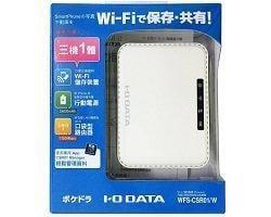 【全新含稅】I-O DATA POKEDORA行動充電無線分享雲(WFS-CSR01/W)無線讀卡機