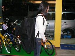 ★魔術方塊單車★全新STRIPE雙肩背式16~20吋摺疊車專用攜車袋(可雙肩背 & 側肩背 & 手提--三種功能)