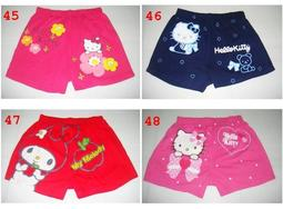 三麗歐凱蒂貓Hello Kitty 蠟筆小新 美樂蒂 海綿寶寶 海賊王 米老鼠 憤怒鳥 平口褲 一件100元 M.L.XL