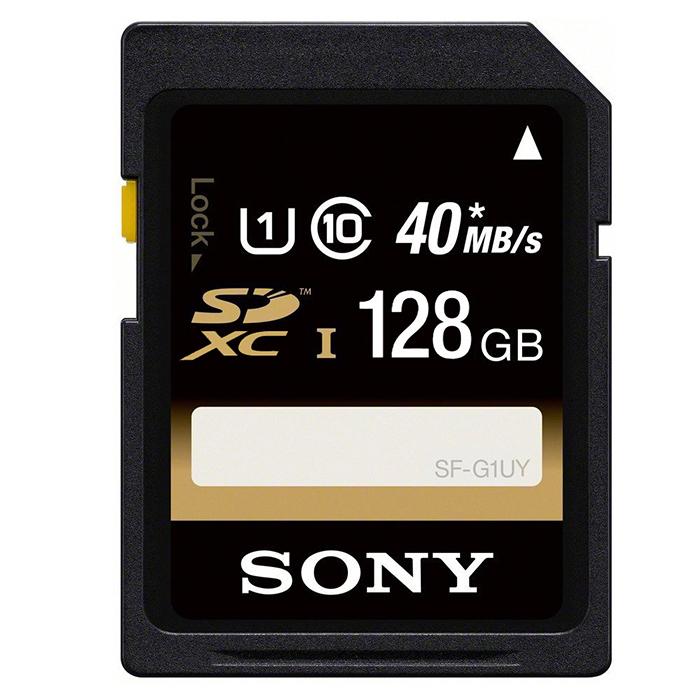 【SONY】SDXC U1 class10 40M/s 128GB高速記憶卡-送手機支撐架