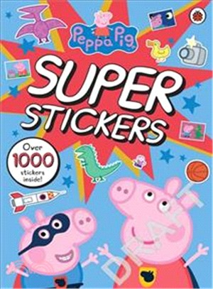 Peppa Pig Super Stickers Activity Book-over 1000 stickers inside! (貼紙書)