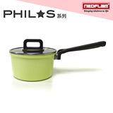 韓國NEOFLAM PHILOS系列 18cm陶瓷不沾單柄湯鍋+玻璃鍋蓋(EK-PH-S18)