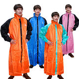 【JUMP】前開配色反光休閒風雨衣-超大尺寸5XL