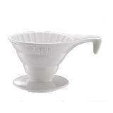 Tiamo V02 長柄 陶瓷咖啡濾杯組【白色】附濾紙.量匙 2-4杯份 (HG5534 W)