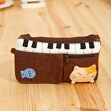 【貝斯貓】(ABS)拼布零錢包/手拿包/証件包/化妝包88-176 咖啡