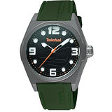 Timberland Radler 中性時尚腕錶-黑/深綠 TBL.13328JPGYU/02