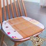 【奶油獅】正版授權-涼夏必購~高支撐記憶聚合-搖滾星星紙纖餐椅墊-淡紫(一入)
