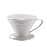 Tiamo V02 螺旋 陶瓷咖啡濾杯組【白色】附濾紙.量匙 2-4杯份 (HG5538 W)