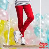 【BOBSON】女款天絲棉強彈緊身褲(紅13)