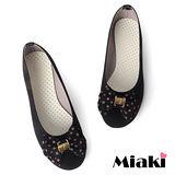 (現貨+預購)【Miaki】MIT 韓劇風圓點蝴蝶平底娃娃鞋包鞋 (黑色)