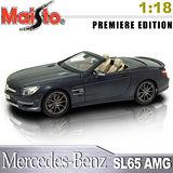 Mercedes-Benz SL65 AMG《1/18 》合金模型車 (黑)