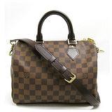 Louis Vuitton LV N41368 N41181 Speedy 25 時尚經典棋盤格紋手提包(附背帶) 預購