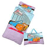 【閃電麥坤-CARS】賽車篇-幼教兒童睡袋(藍紫)