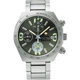 CABANE de ZUCCA 奇幻新世界計時腕錶-綠/銀 7T62-0JY0D