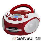 【山水SANSUI】CD/MP3/USB/SD/AUX/卡帶手提式音響 SC-85C