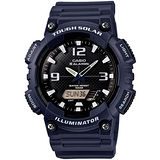 CASIO 型男個性太陽能雙顯錶(深藍錶帶)AQ-S810W-2A2