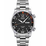 MIDO Multifort Diver 系列旗鑑日曆機械腕錶-黑/銀 M0059301106000
