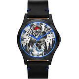 Marc Jacobs Holiday Henry 塗鴉藝術沙皮狗腕錶-黑 MBM8622