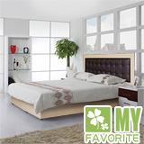 最愛傢俱 新復古款式 《白橡 6尺床台 方格造型 》 雙人加大床