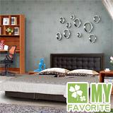 最愛傢俱 新復古款式《胡桃 6尺床台 方格造型 》 雙人加大床