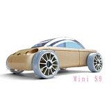 【AUTOMOBLOX 】德國原木變形車Mini S9