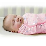 美國 Summer Infant SwaddleMe【純棉薄款 - 粉紅花園】, 小號 - 可調式懶人包巾