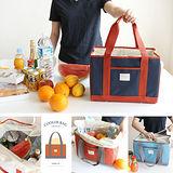【韓國創意品牌 invite.L】L號 保冷袋 保溫袋 保鮮袋 餐盒袋 便當袋 手提包 防潑水 繽紛六色可選擇
