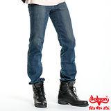 【BOBSON】男款熱感IN保暖紗直筒褲(藍53)