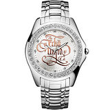 MARC ECKO 好萊塢藝術晶鑽時尚腕錶-銀 ME10564G1