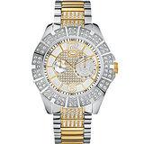 MARC ECKO 維也納宮廷風格晶鑽腕錶-銀 ME21577G1