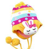 【iSFun】繽紛兔兔*兒童護耳帽/黃