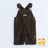 【LOVEDO艾唯多童裝】活潑俏皮休閒版型 吊帶褲(墨綠)