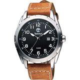 Timberland Newmarket 復刻木紋時尚腕錶-黑/淺咖啡 TBL.13330XS/02