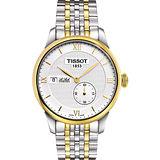 TISSOT Le Locle 力洛克獨立小秒針機械腕錶-銀x雙色版 T0064282203800