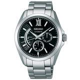 SEIKO BRIGHTZ Comfotex 旗鑑經典機械腕錶-黑/銀 6R21-00W0D