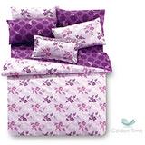 金時代GOLDEN-TIME【凡爾賽莊園-紫】單人三件式兩用被床包組