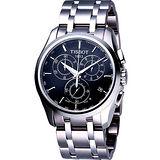 TISSOT Couturier 建構師系列計時錶-黑 T0356171105100