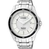 CITIZEN Eco-Drive 【鈦】藍寶石水晶腕錶-銀 BM6921-58A
