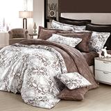GOLDEN-TIME-歐系皇殿-精梳棉-加大四件式兩用被床包組